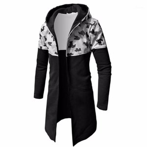 هوديي سترة الذكور 2020 الهيب هوب كامو خياطة هوديس الرجال البلوز هوديس رجالي مقنعين زائد حجم معطف سترة XXXL F661
