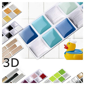 New 25.3*3.7 Cm Checkered Self Adhesive Waterproof Wallpaper for Bathroom KitchenPaper PET Wall Stickers