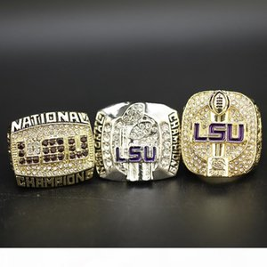 3pcs set 2003 2007 2019 LSU Tigers College National Championship Ring gifts for friends fathers day gifts for dad