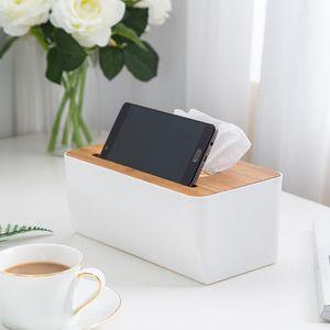 Holz Tissue Box Runde European Style Startseite Tissue Container-Tuch-Serviette-Halter-Kasten für Auto-Büro-Ausgangsdekoration