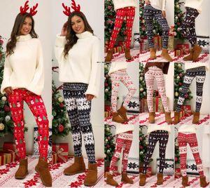 Womens Christmas Snowflake Leggings Santa Snowman Underwear Festival Party Ultra Soft Popular Printed Leggings S-5XL Free UPS AIR Shipping
