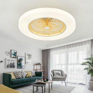 IKVVT LED потолочный вентилятор современный с диммингом дистанционного управления Невидимые лезвия D58CM для спальни гостиной Ventilador de teto dc2201
