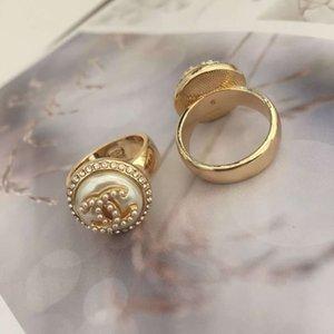2021NEW moda high-end anel carta direita simples anel transparente