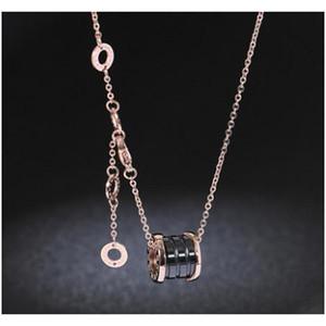 2019 femmes de luxe de luxe bijoux Bijoux en céramique en céramique Pendentif en céramique Rose Gold Couleur Acier inoxydable Hommes Neckla SQCKFV Homes2007