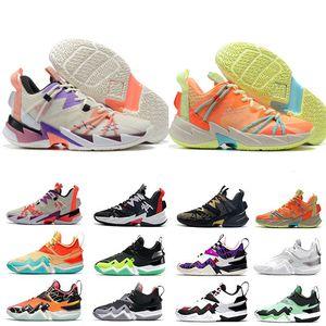 Warum nicht ZER0.3 Mensbasketballschuhe Russell Westbrook Sneakers Schwarz Cement Gewaschene Coral LA Born UNITE Die Familie Turnschuhe Größe 7-12