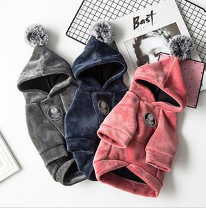 옷 가을 겨울 두꺼운 면화 스웨터 크리스마스 작은 개 따뜻한 스웨터 패션 솔리드 컬러 강아지 애완 동물 개 공급 Zyy560