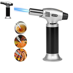 New 1300C Butane Scorch Torch Jet Flame Lighters Cooking Refillable Adjust Flame Kitchen Lighter Ignition Spray Gun Picnic Tool HH7-1147