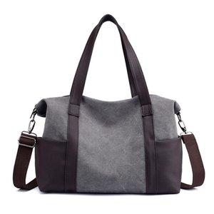 2020 Wholesale High Quality New Design Women Fashion high capacity Splicing Canvas Bags SU8003