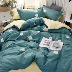مجموعة مفروشات الأزياء الفاخرة الوردي الحب مجموعة الأسرة ورقة غطاء لحاف المخدة الكامل الملك ملكة واحدة، سرير مجموعة 2019 Y200111