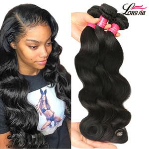 Commercio all'ingrosso 9A brasiliana dei capelli umani del tessuto 4 Bundles Body Wave Doppia trama brasiliana vergine dei capelli Fasci di trasporto