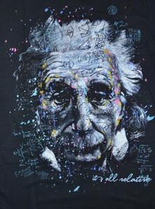 Albert Einstein Stephen Fishwick Ev Dekorasyon Handpainted HD Baskı Yağ Tuval Wall Art Canvas Pictures 201002 On Boyama