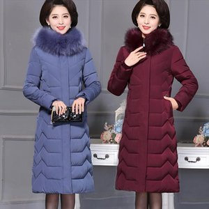 Oversize Winter Jacket For Women Long Down Cotton Coats Parka Jacket Women Warm Thick Overcoat Hooded Down Plus Size 7XL