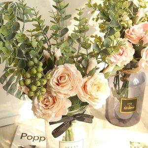 Flores Artificiales Gamme Rose Hydrangea Bouquet de fleurs Bouquet Accueil fête de mariage cadeau déco