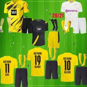HAALAND 9 RISCHIO 10 Borussia Dortmund 20 21 soccer jersey Emre Can 23 2020 2021 camicia di calcio 110 kit bambini SANCHO REUS Hummels