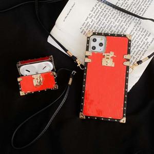 Com VV Logo Moda Casos de telefone para iPhone 12 Pro Max 11 XR XS Max 7/8 Plus PU Couro Shell para Samsung S10 S20 Plus Nota 10P 20