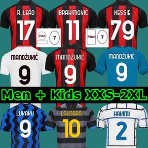Ibrahimovic Theo Mandzukic 20 21 AC Milan Soccer Jersey 2020 2021 Football Jerseys Shirt Enfants Lukaku Lautaro Eriksen Tonali Brahim