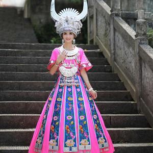 XG133 Miao Costume chinesische ethnische Minderheiten Brautkleid und Kleider Bühne Tanz-Abnutzungs-formalen Kleid anzeigen Welcome Kit
