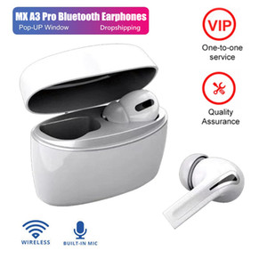 New A3 Pro Tws Bluetooth Earphones Wireless Headphones Mini Earbuds HIFI Headset Case for Iphone Xiaomi Redmi Samsung Stereo Sound hot sell