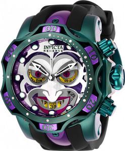 Invicta Watch DC Comics Joker Hommes Modèle 26790 - Montre à quartz pour hommes 52.5mm Silicone suisse en acier inoxydable
