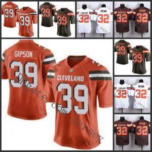 ClevelandBrownshomens 32 Jim Brown 39 Tashaun Gipson Williams Homens Mulheres Juventude Jersey