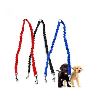 Pet Dog accoppiatore Bungee Guinzaglio doppio Walking piombo elastico Due cani guinzaglio Splitter trasporto veloce