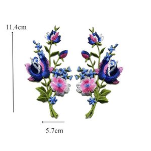 2pcs Symmetrical Flowers Embroidery Patch Sew Iron On Embroidered Patches Badges For Bag Jeans Hat T Shirt Diy Appliques Craft H jllNbl