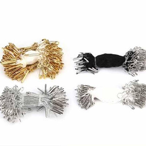 1000pcs 2020 hot sale new Pin hangtag line high-grade clothing label line four colors Iron or copper dacron,silver and gold