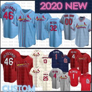2020 Yeni 46 Paul Goldschmidt Özel Yadier Molina Beyzbol Jersey Matt Carpenter Ozzie Smith Harrison Bader Stan Musial Paul DeJong Martinez