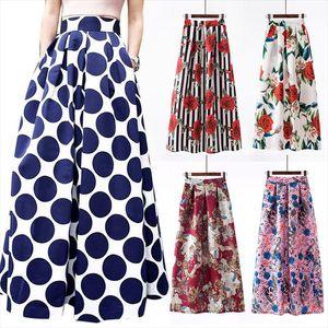 Elegant Long Skirt Harajuku Vintage Saia Beach Ropa Mujer Bohemian Maxi Skirts Womens Casual Faldas Jupe Femme Woman Clothes