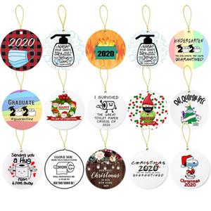 Ornamenti di Natale di Santa indossa Tree Decoration una bandana coprire il volto Decorare Natale Carino Santa Clause Decoration GWE2331