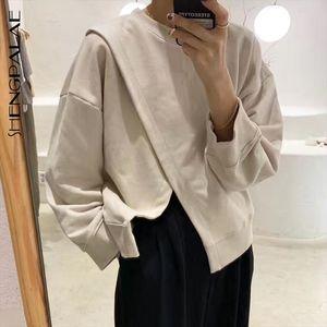 2020 New Fashion Women Sweatshirt Hooded Pullovers Fashion Female Casual Oversize Jumper Irregular Design ZA4724 Drop Shipping