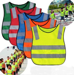 Kids Safety Clothing Studen Reflective Vest Children Proof Vests High Visibility Warning Patchwork Vest Safety Construction Tools NWB2274