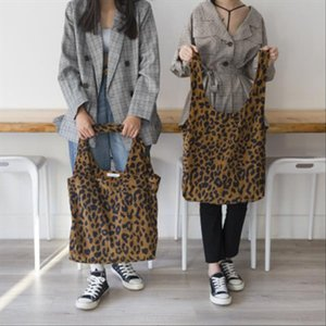 Brand Leopard Print Ladies Womens Shopping Bag Soft Foldable Shoulder Shopping Tote School Bag Handbag Beach Free Shipping