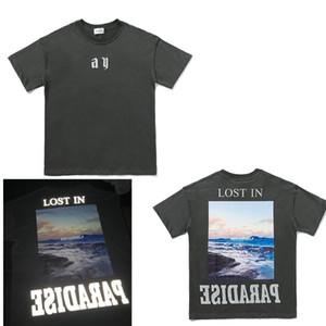 Fashion men Tshirt summer Short sleeve top European American popular printing T-shirt men women couples high quality t-shirt M-XXL