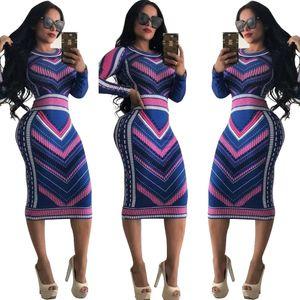 Multi color printed dress on the shelf