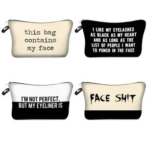 3D Printed Letters Cosmetic Bags This Bag Contains My Face Toiletry Bag Girl Women Makeup Pouch Gift Bag 91 G2