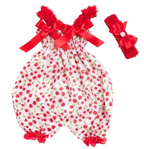 2020 Baby Clothing Sets Girls Bloomer Newborn Bodysuit Sling Clothes Jumpsuit Original Christmas Satin Diaper Cover with headband