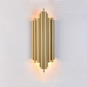 Nordic Special Foyer Loft LED Wall Sconce Gold Black Metal Home Decoration Wall lamp Bedroom Restaurant light Fixtures