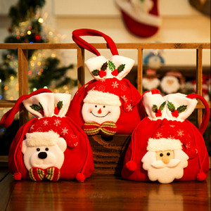 Christmas Decorations Holiday Gift Bags Christmas Candy Bags Indoor Decorations Christmas Tote Bags 3 Styles T3I51312