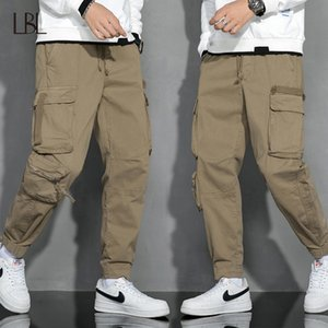 Tactical Pants Men Multi-pocket Washed Overalls Mens Loose 100% Cotton Cargo Pants Male Joggers Trousers Fashion Casual Bottom Y1114