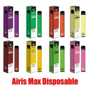 Orijinal Airis Max Tek Pod Cihazı 1600 Puff 950mAh 5.6ml Prefilled Taşınabilir Vape Çubuk Kalemler Bar Artı Akış XL XXL Max% 100 Otantik