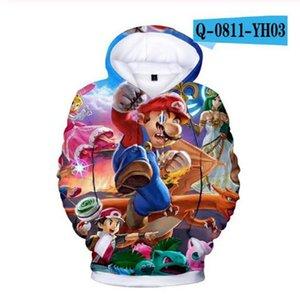 New style Kids Hoodies Game Super Mario Bros 3D printed Hoodie Sweatshirt Boys Girls Outerwear Jacket Coat Children Clothing