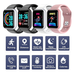 D20 Smart Bracelet Wrist Band 150mAh Fitness Tracker Heart Rate Sports Watch with 1.3inch Display Waterproof Monitor Wristband