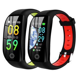 "F21 Smart Bracelet GPS Fitness Activity Tracker 1.14"" Sport Waterproof Blood Pressure Watch Sleep Monitor Band Wristband"