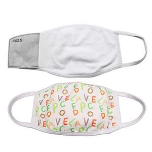 DHL Expédition Blanks Sublimation Masque Adultes Enfants avec filtre de poche peut mettre PM2,5 Joint Prévention de la poussière pour le transfert DIY Imprimer