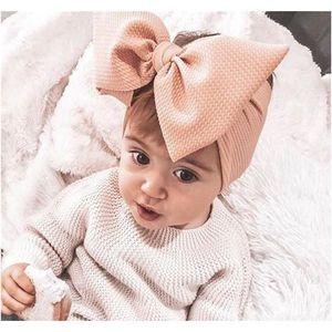 Ins 15 Colors Fashion Baby Girls Big Bow Headbands Elastic Bowknot Hairbands Headwear Kids Headdress Head Bands Ne bbyosG bde_home