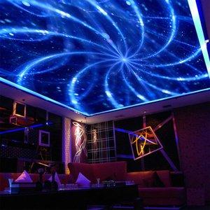 Custom 3D Mural Wallpaper Abstract Art Blue Line Modern KTV Bar Living Room Suspended Ceiling De Parede
