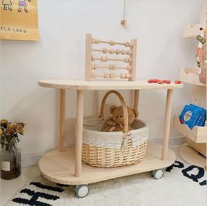 Родитель ребенка ресторан сказка Японский Корейский детская комната угловая столовая машина чайный столик прикроватный столик многослойная корзина полка все из массива дерева