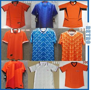 Hollanda Nihai futbol formaları Retro 2000 Vintage Holland formalarını Klasik ev turuncu BERGKAMP Davids Kluivert Seedorf Sprockel