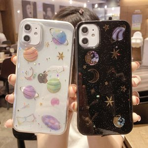 Glitter Bling Stars Moon Phone Case für iPhone 11 11Pro Max XR xs max 7 8 6s plus x Planet Weiche TPU-Abdeckung